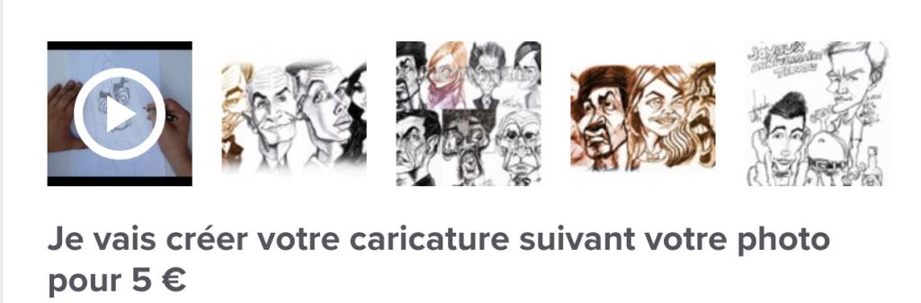 5Euros, créer une caricature