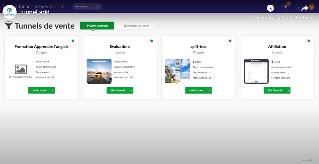 Création d'un tunnel de vente sur LearnyBox
